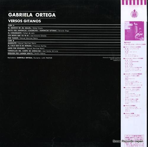 ORTEGA, GABRIELA / LUIS PASTOR versos gitanos G-7813 - back cover