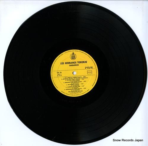 LOS HERMANOS TORONJO fandangos 130126 - disc