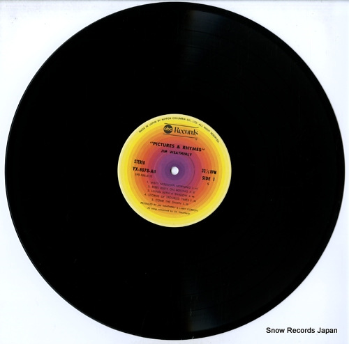 WEATHERLY, JIM pictures & rhymes YX-8078-AB - disc