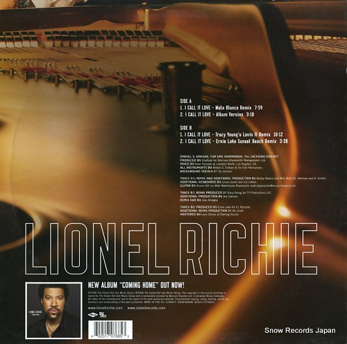 RICHIE, LIONEL i call it love 0602517076853 - back cover