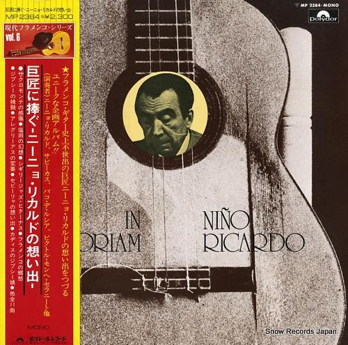 RICARDO, NINO in memoriam MP2384 - front cover