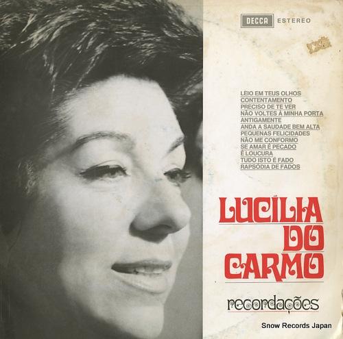 DO CARMO, LUCILIA recordacoes SLPDP5004 - front cover