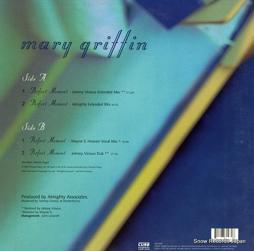 GRIFFIN, MARY perfect moment DO-77097 - back cover