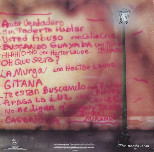 COLON, WILLIE grandes exitos LPS-2001 - back cover