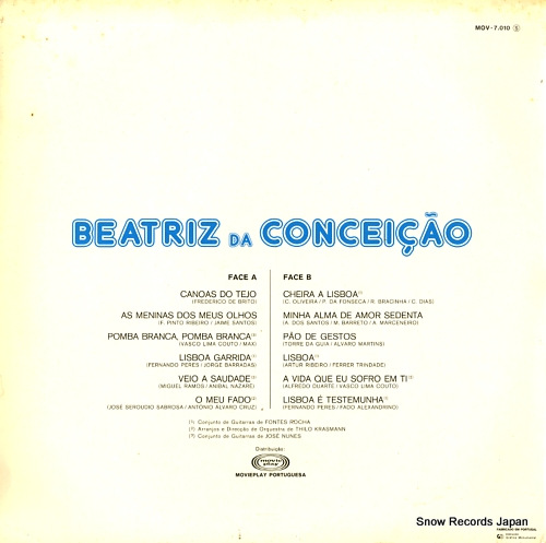DA CONCEICAO, BEATRIZ canta lisboa MOV-7.010S - back cover