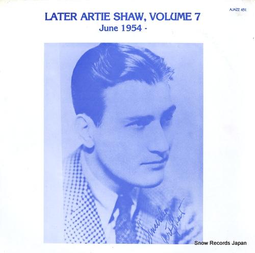 アーティ・ショウ volume 7 / june 1954 AJAZZ451