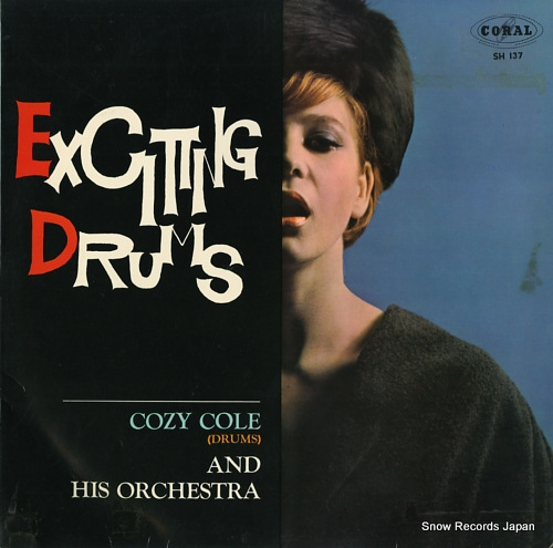 COLE, COZY exciting drums SH137 - front cover