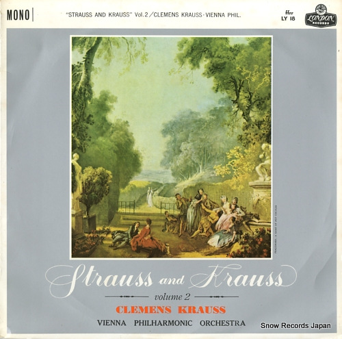 KRAUSS, CLEMENS strauss and krauss vol.2 LY18 - front cover