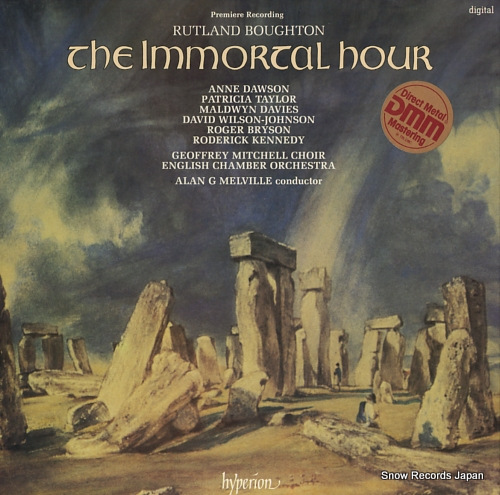 MELVILLE, ALAN G. boughton; the immortal hour A66101/2 - front cover