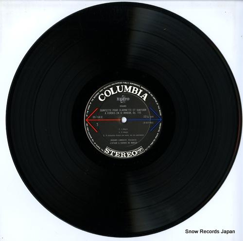 LANCELOT, JACQUES brahms; quintette pour clarinette et quatuor a cordes OS-768-R - disc