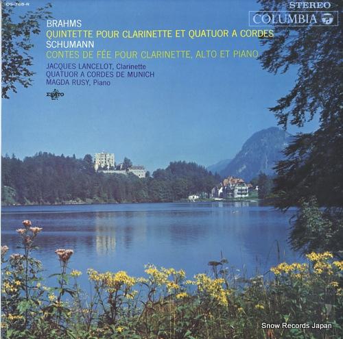 LANCELOT, JACQUES brahms; quintette pour clarinette et quatuor a cordes OS-768-R - front cover