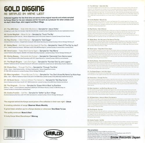 V/A gold digging / as sampled by kanye west HURTLP065 - back cover