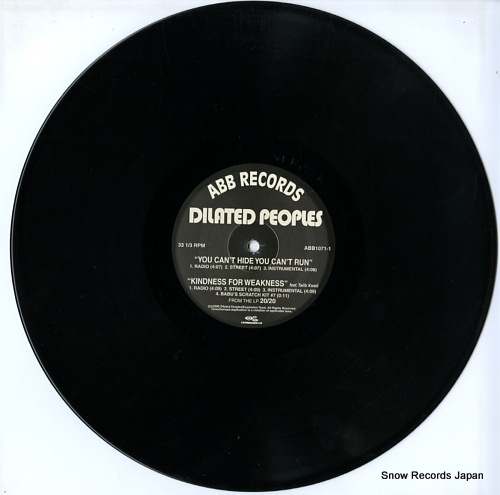 DILATED PEOPLES you can't hide, you can't run ABB1071-1 - disc