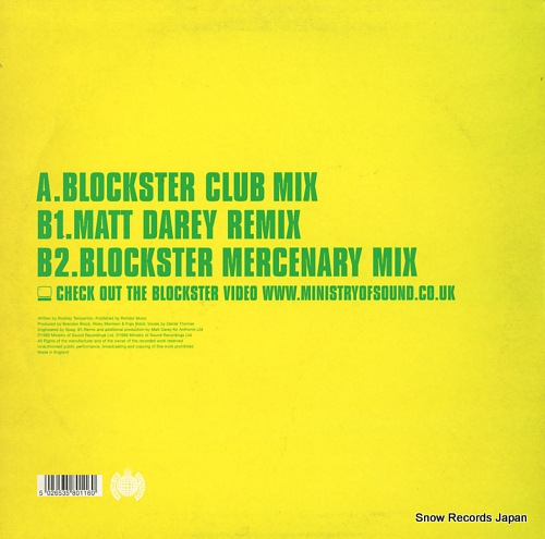 BLOCKSTER grooveline MOS131 - back cover