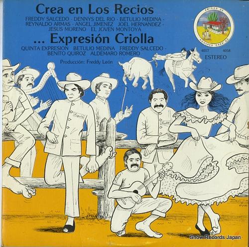 V/A crea en los recios / expresion criolla HC-4057/HC-4058 - front cover