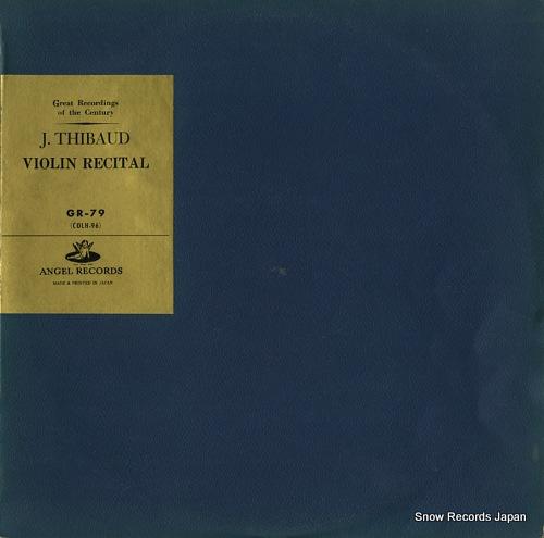 THIBAUD, JACQUES violin recital GR-79 - front cover