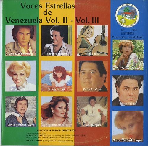 V/A voces estrellas de venezuela vol.ii, vol.iii 4061/4062