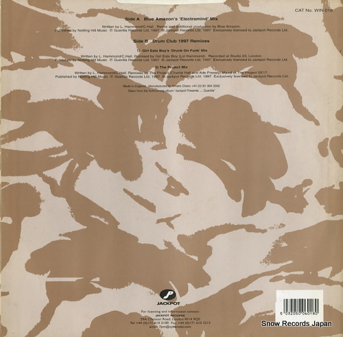 DRUM CLUB you make me feel so good (blue amazon & drum club 1997 remixes) WIN018 - back cover