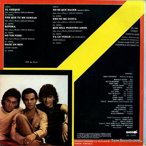MANUEL, CARLOS el zafiro LPE-10502 - back cover