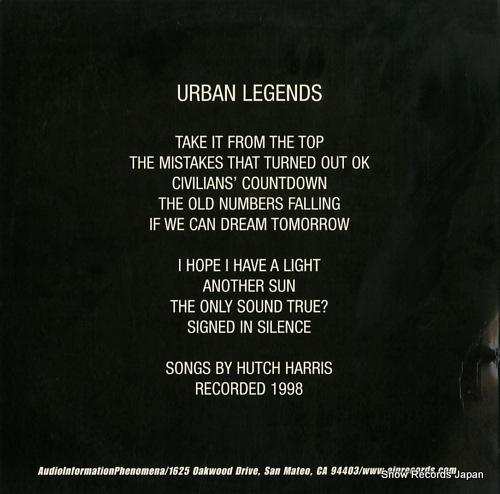 URBAN LEGENDS urban legends AIP.007 - back cover
