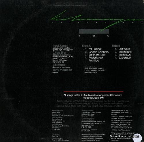 KILIMANJARO two PH9005 - back cover