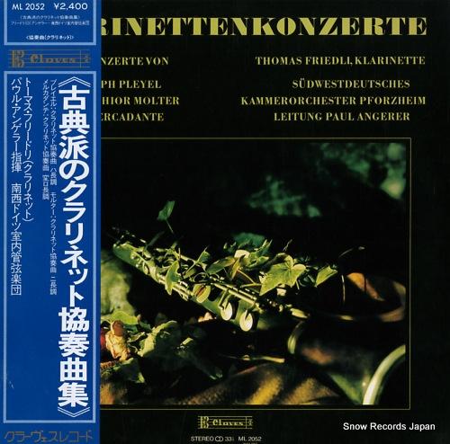 FRIEDLI, THOMAS klarinetten konzerte ML2052 - front cover