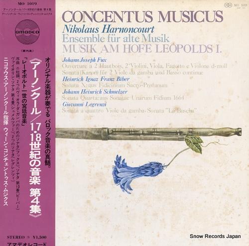 HARNONCOURT, NIKOLAUS concentus musicus MO1019 - front cover