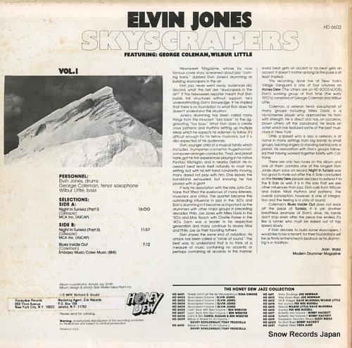 JONES, ELVIN skyscrapers vo.1 HD6602 - back cover