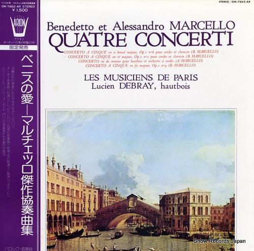 LES MUSICIENS DE PARIS marcello; quatre concerti OW-7862-AR - front cover