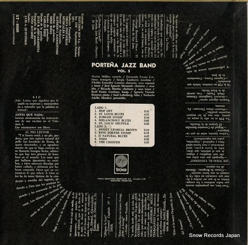 PORTENA JAZZ BAND vol.5 XT80029 - back cover