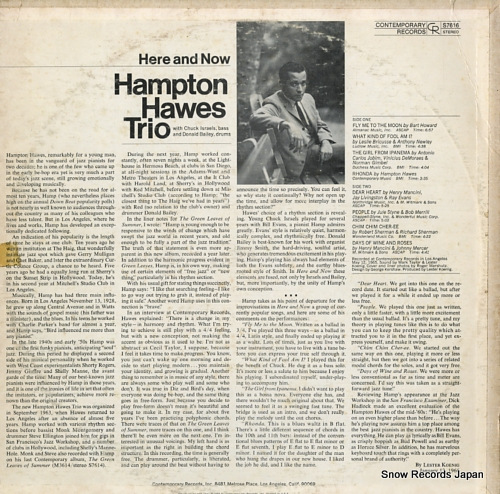 HAWES, HAMPTON here and now S7616 - back cover