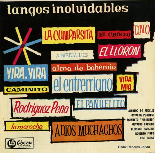 V/A tangos inolvidables ODEON5518 - front cover