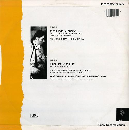 GODLEY AND CREME golden boy POSPX760 - back cover