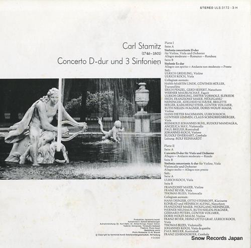 COLLEGIUM AUREUM stamitz; concerto d-dur ULS-3172-3-H - back cover