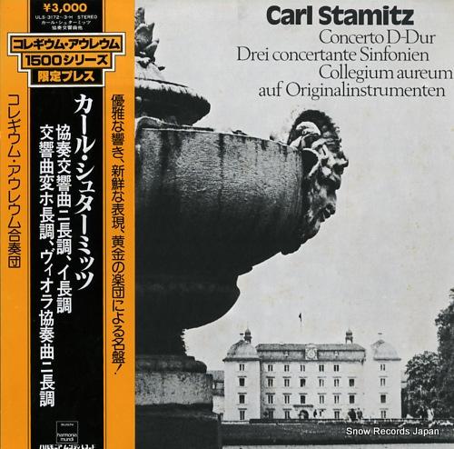COLLEGIUM AUREUM stamitz; concerto d-dur ULS-3172-3-H - front cover
