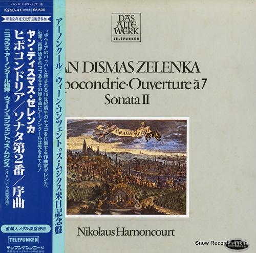 HARNONCOURT, NIKOLAUS zelenka; hipocondrie / ouverture a 7 / sonata ii K25C-41 - front cover