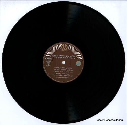 DOSSE, MARYLENE saint-saens; complete works for piano volume iii H-4520V - disc