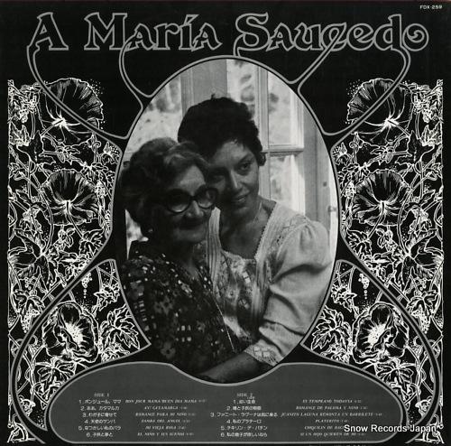 HIDALGO, GINAMARIA romance para la madre y el nino FDX-259 - back cover