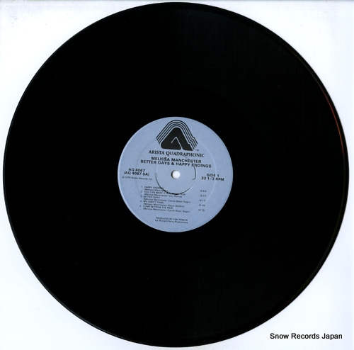 MANCHESTER, MELISSA better days & happy endings AQ4067 - disc