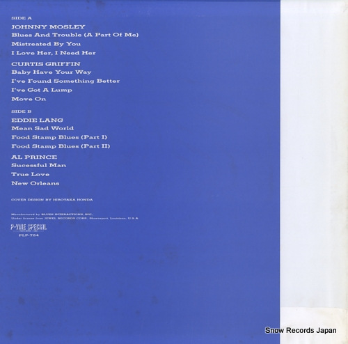 V/A blues from la. to l.a. PLP-724 - back cover