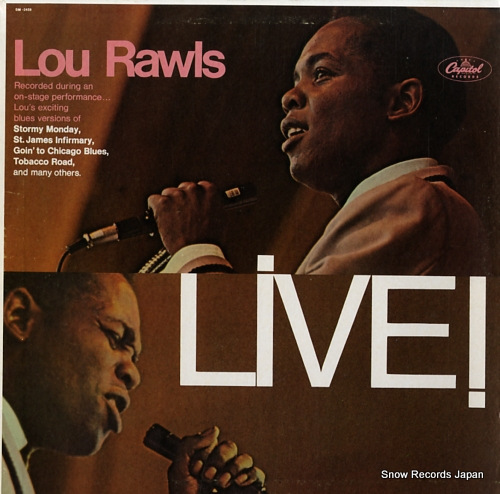 RAWLS, LOU live! SM-2459 - front cover