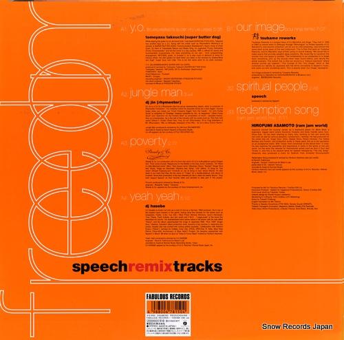 SPEECH freedom speech remix tracks TOJP-60112 - back cover