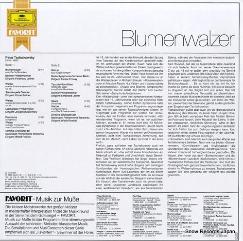 V/A tschaikowsky; blumenwalzer 2535653 - back cover