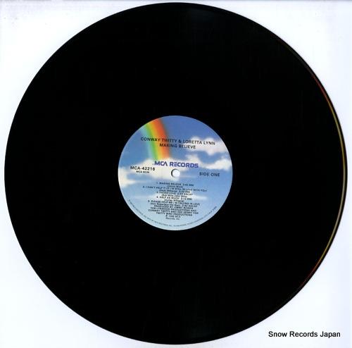 TWITTY, CONWAY, AND LORETTA LYNN marking believe MCA-42216 - disc