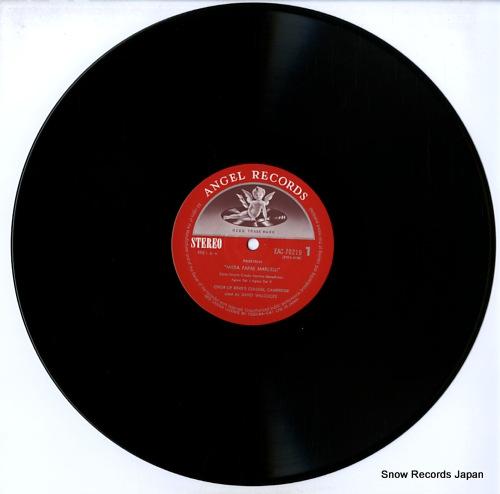WILLCOCKS, DAVID palestrina; missa papae marcelli / missa brevis EAC-70219 - disc