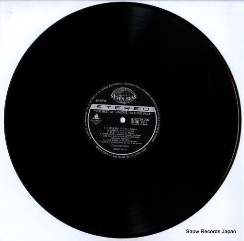 VILLA, CLAUDIO the best of canzonec SR226 - disc