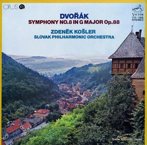 KOSLER, ZDENEK dvorak; symphony no.8 in g major op.88 VX-186 - front cover