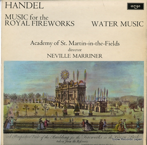 MARRINER, NEVILLE handel; music for the royal fireworks / water music ZRG697 - front cover