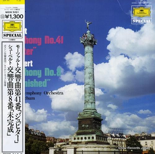 JOCHUM, EUGEN mozart; symphony no.41 jupiter MGW5251 - front cover