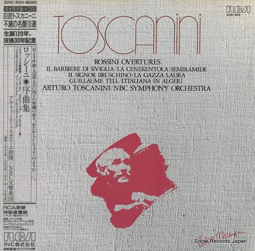 TOSCANINI, ARTURO rossini; overrtures S20C-1004 - front cover